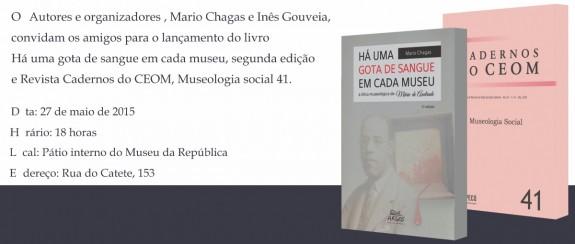 convite_lancamento_livro_Mario_chagas_ines_gouveia