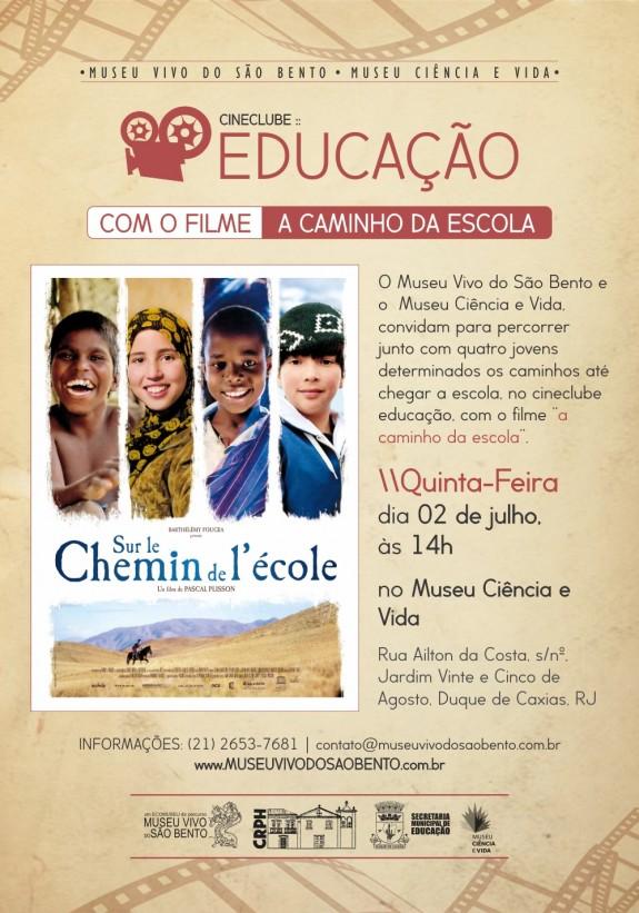 cartaz cineclube educacao caminho da escola
