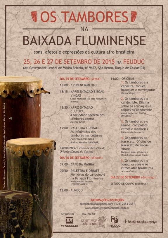 Cartaz Tambores na Baixada Fluminense